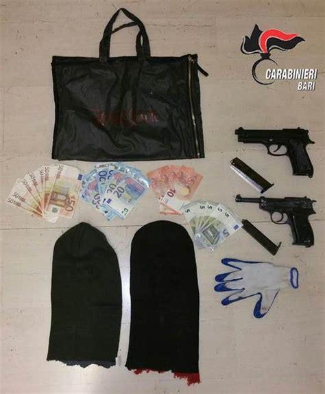 il fatto molfetta rapina interno 45 molfetta assaltano due negozi preso 22enne foggiano