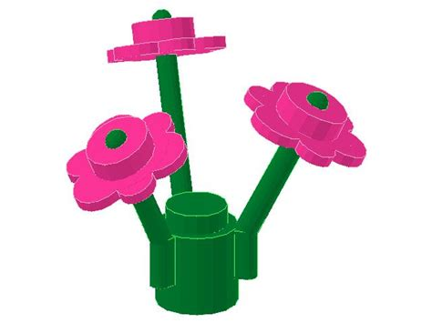 Lego Plant Lego Flower Set Pink lego flowers pink ebricks building at your education
