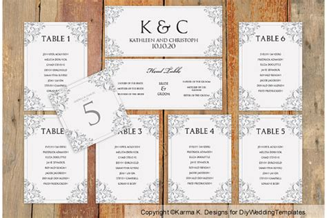 wedding seating chart template download by karmakweddings