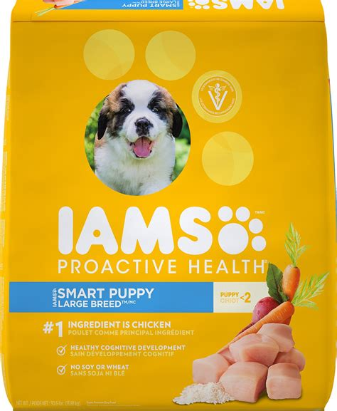 iams puppy food reviews iams proactive health smart puppy large breed food 30 6 lb bag chewy