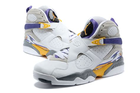 Lakers Retro White air 8 retro bryant lakers home pe for sale