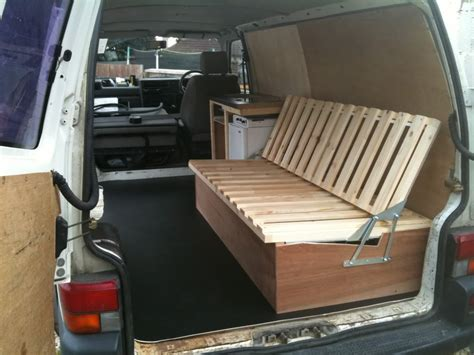 van with bed self made wooden seat beds pics please page 2 vw t4