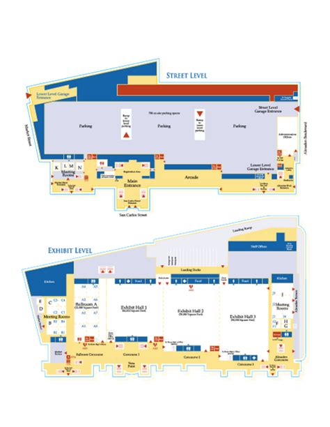 san jose convention center floor plan san jose convention center floor map
