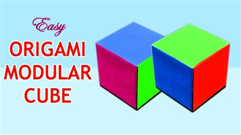 Origami 3d Box - how to make an origami cube origami modular cube make