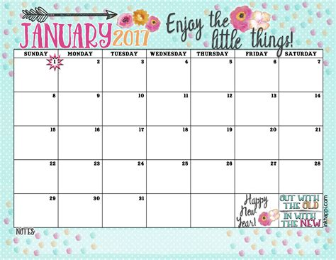 january calendar template 2016 january calendar printable with quotes calendar