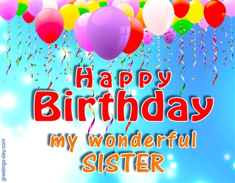 happy birthday images for my sister greeting cards for every day november 2015