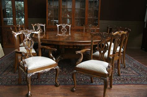 bench for round dining table large oversized round dining table large round mahogany dining room table ebay
