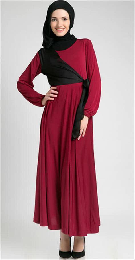 desain dress online gambar trend model baju dress muslim modern 2015