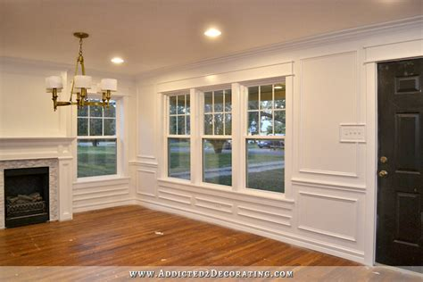 Dining Room Moulding by Finished Dining Room Walls