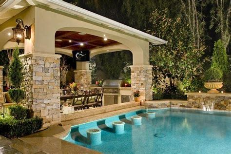 pool and outdoor kitchen designs 20 lavish poolside outdoor kitchen designs swimming