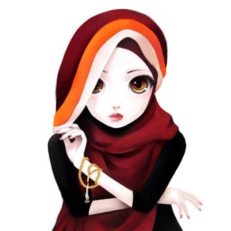 gambar kartun wanita muslimah cantik gambar animasi kartun korea wanita cantik berkacamata