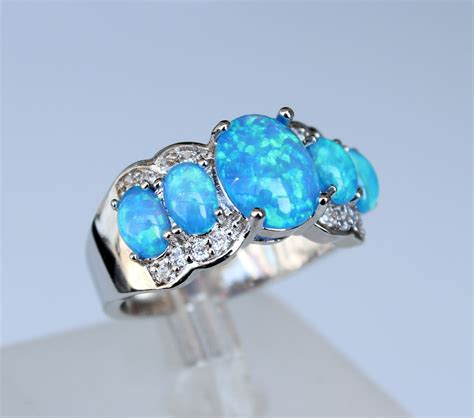 wholesale white opal rings new fashion jewelry for