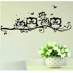 free wall stickers free vinyl owl butterfly wall sticker