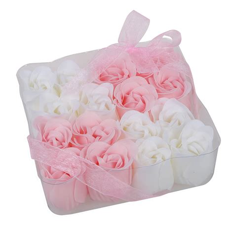 Scented Bath Soap Flower With For Gift lot 16pcs pink bath confetti fragrant scented soap flower gift dt