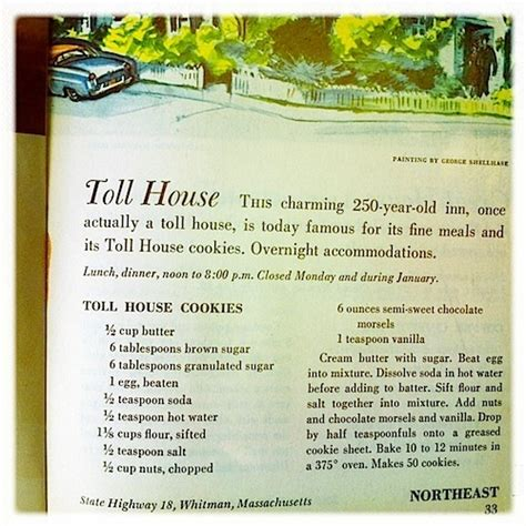 toll house recipe original toll house cookie recipe food pinterest