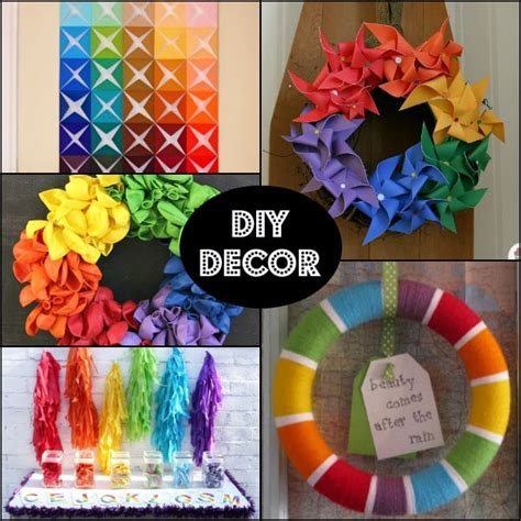 home made birthday decorations rainbow birthday ideas for a 1st birthday giveaway cooks 174