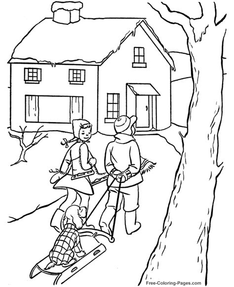 Winter Coloring Books Pictures Fun Winter Day Coloring In Books