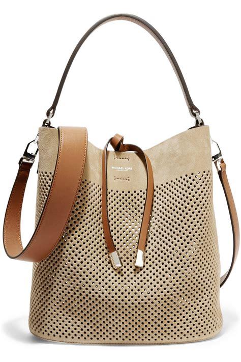Fashion Line Bag michael kors miranda medium perforated suede and leather