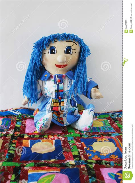 Patchwork Doll - patchwork doll quilt rug stock photos image 30072993