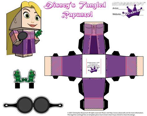 Papercraft Inc - cubeecraft sencillos de las princesas disney