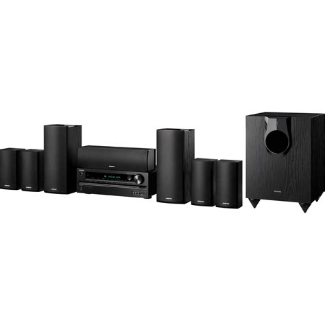 onkyo ht s5500 7 1 channel home theater system ht s5500 b h