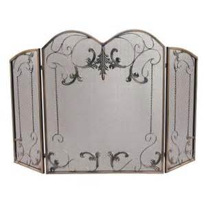 home depot fireplace screen uniflame venetian bronze 3 panel fireplace screen with