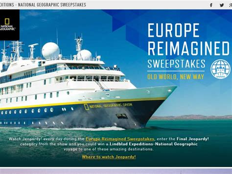 Jeopardy Sweepstakes - the jeopardy europe reimagined sweepstakes