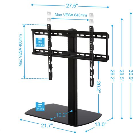 tv stands for 65 inch fitueyes universal swivel tv stand