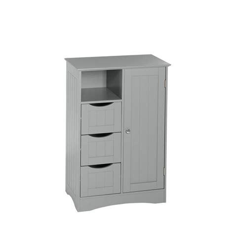 riverridge home ashland        bathroom linen storage floor cabinet  gray
