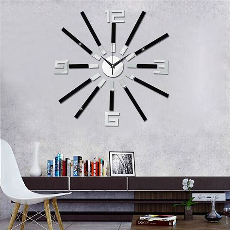 Home Decor 3d Stickers Diy Wall Clock Modern 3d Self Adhesive Sticker Design For Home Office Room Decor Alex Nld
