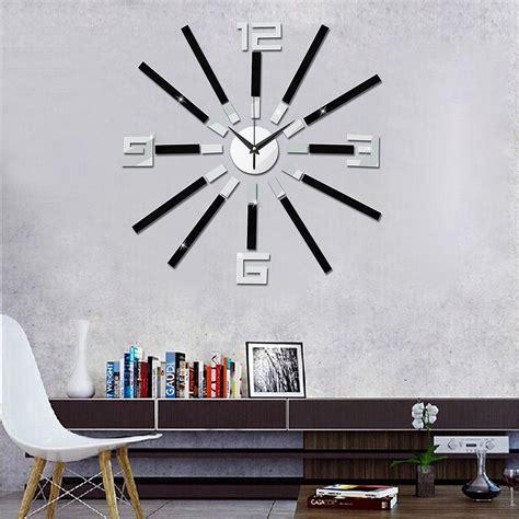 home decor 3d stickers diy wall clock modern art 3d self adhesive sticker design