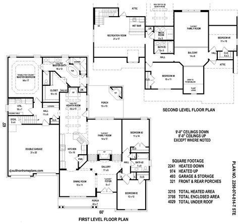 5 Bedroom Floor Plan Sullivan Home Plans June 2010