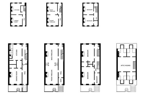 row house floor plan the row house floor plans redrawn from lockwood 1972 p 14 173 19 and scientific