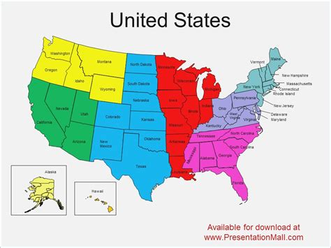 Customizable Us Map For Powerpoint Pontybistrogramercy Com Powerpoint Us Map Template Free