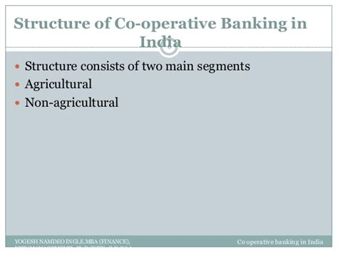 Mba Agribusiness In Banks by Co Operative Banking In India