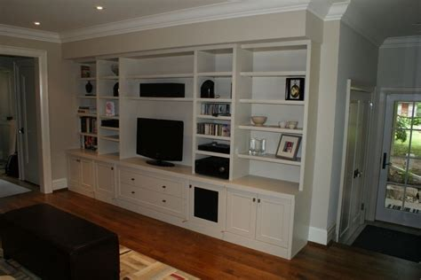 hand crafted built in wall unit for widescreen tv in custom made built in audio video wall unit by wiggers