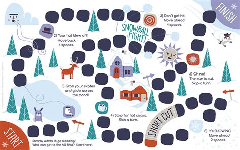 free printable winter board games 24 days of freebies day 20 snowman board game