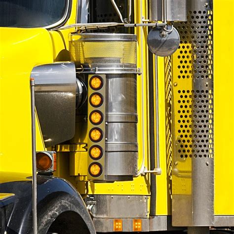 semi truck clearance lights rectangular led truck and trailer lights 2 5 8 led side
