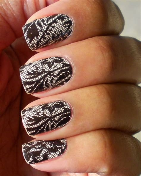 Nail Blacklace easy nail designs to try