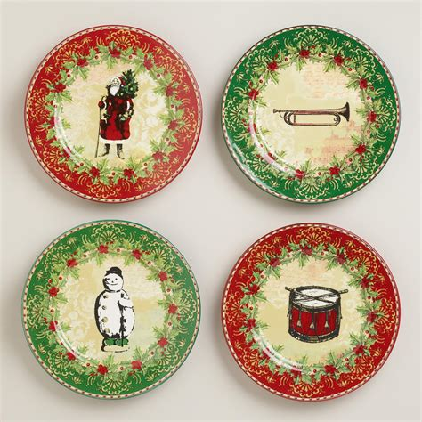 victorian christmas plates set of 4 world market