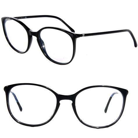 chanel acetate cc eyeglass frames 3282 black 69664