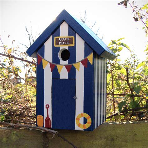 Cool Bird House Plans by Handmade Beach Hut Bird Box Birdhouses