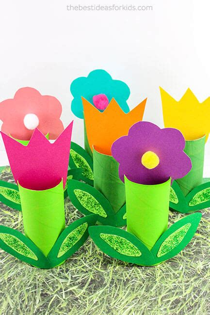 toilet paper roll flowers craft fish handprint card the best ideas for