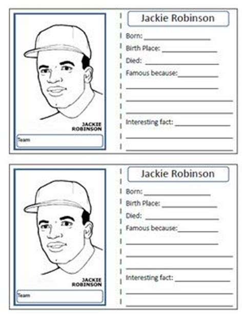 printable worksheets on jackie robinson pinterest the world s catalog of ideas