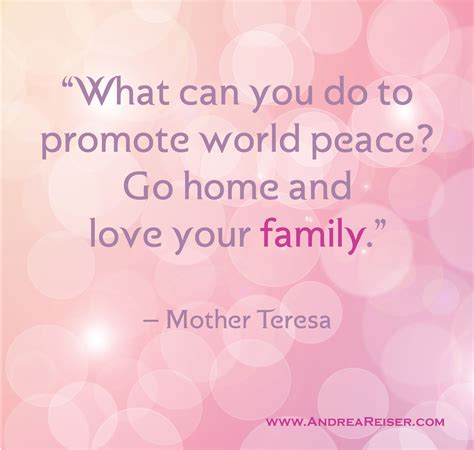 quot promote world peace your family quot andrea reiser