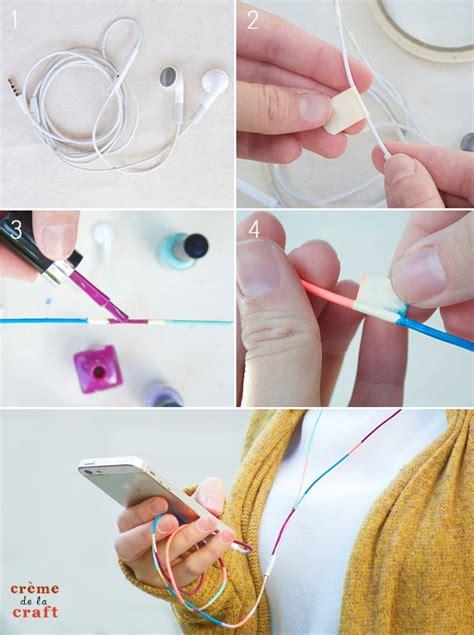 nail diy projects diy nail colored headphones