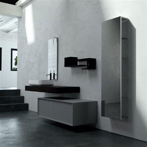 bagno design moderno bagno grigio minimal con lavabo interior design trova le