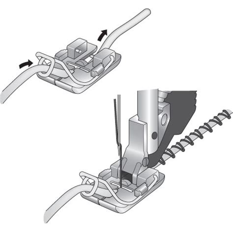 Creative Couching Foot by Pfaff Couching Braiding Foot For Idt System