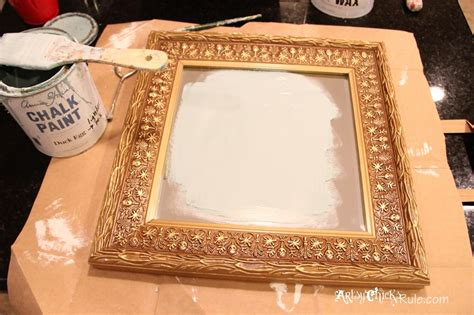 chalk paint mirror frame baby it s cold outside thrifty makeover w chalk paint