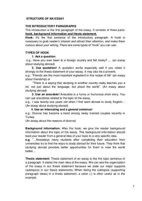 essay structure hook essay structure hook